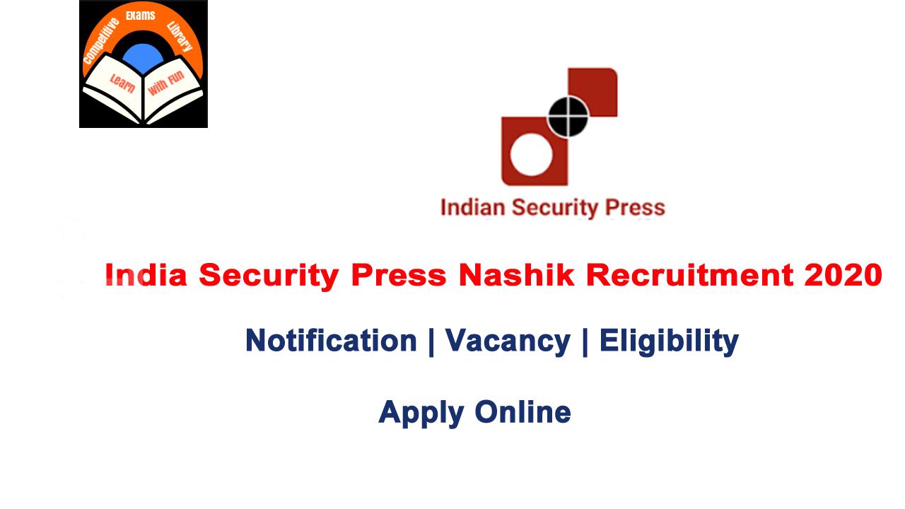 India Security Press Recruitment 2020